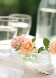 Roses on Dining Table